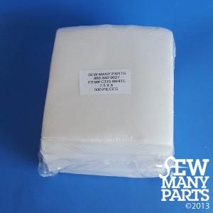 1.5 oz White Mesh Cutaway-7.5x8