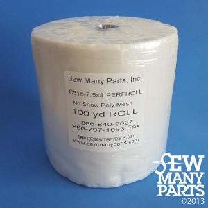 1.5 oz White Mesh Cutaway-7.5x8 Perforated