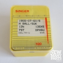 Singer 60/08 Medium Ball Point Industrial Sewing Needle