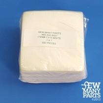 1.5 oz White Mesh Cutaway-7x7